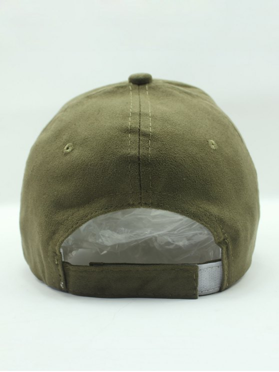 Solid Color Faux Suede Baseball Hat - ARMY GREEN  Mobile