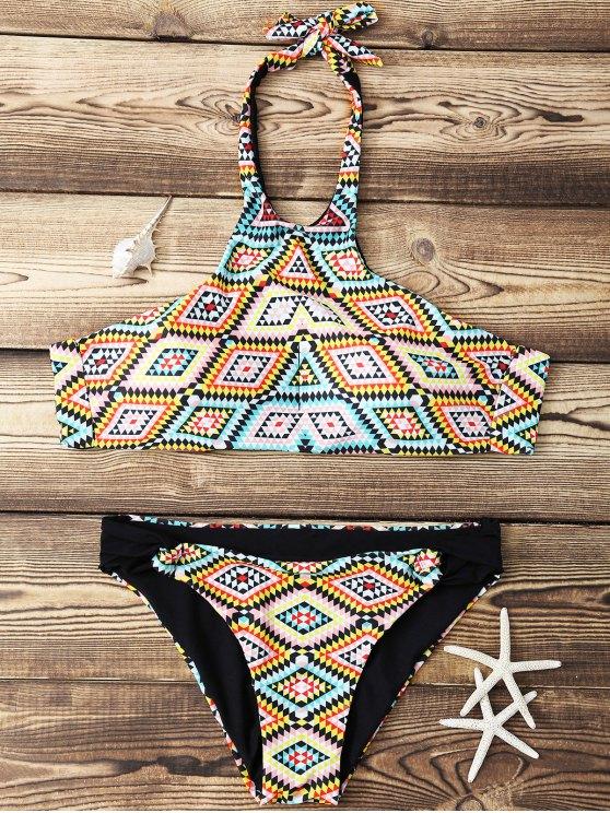 shops Argyle High Neck Bikini Set - COLORMIX M