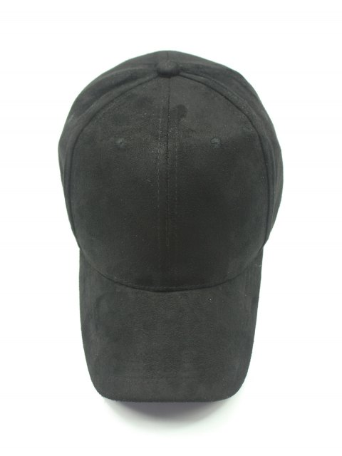 outfits Solid Color Faux Suede Baseball Hat - BLACK  Mobile