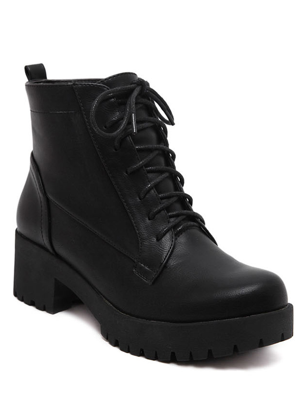 Black Design Ankle Boots For Women