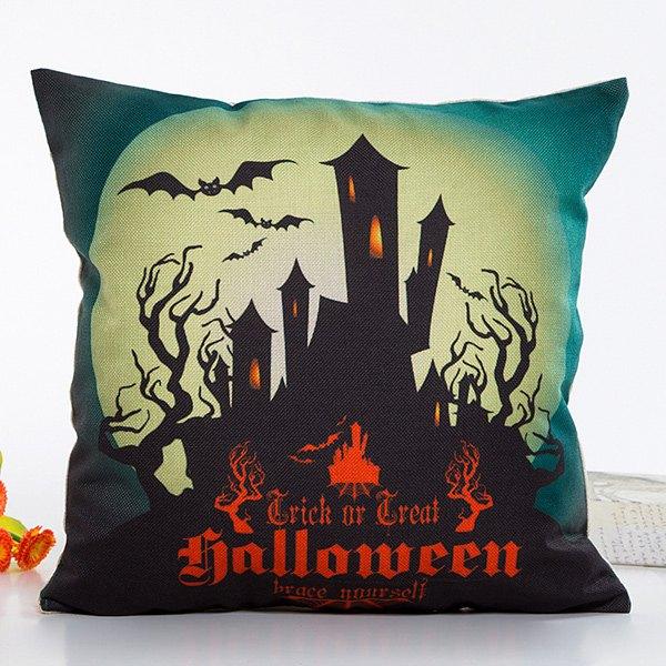 Fantastic House Light Halloween Design Linon Pillow Case