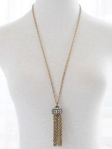 Faux Pearl Rhinestone Sweater Chain