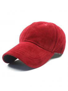 Adjustable Buckle Faux Suede Baseball Hat