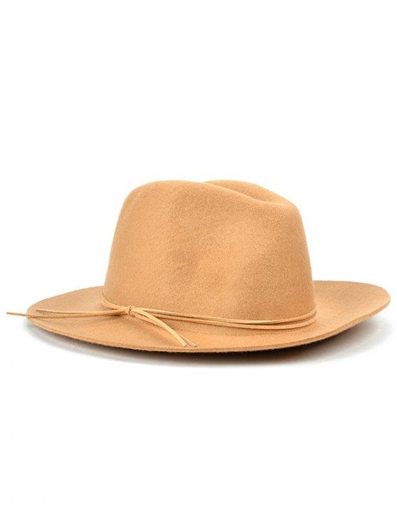 women's Britain Style Bowknot Felt Jazz Hat - KHAKI