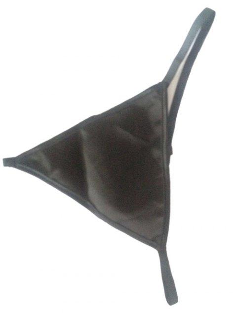 trendy Halter Neck Laciness See Through Corset - BLACK S Mobile