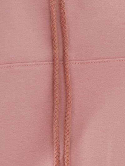 Light Pink Raglan Sleeve Lace Up Hoodie - NUDE PINK XL Mobile