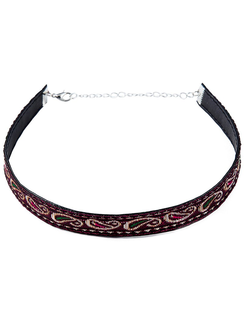 Ethnic Style Embroidery Choker Necklace