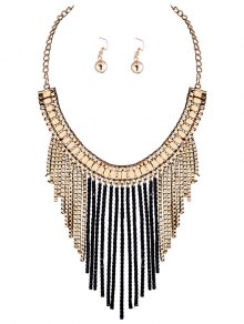 Fringed Necklace and Earrings