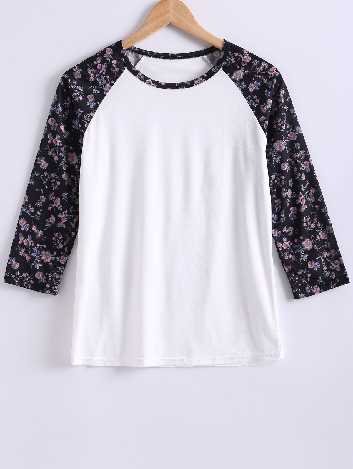 Round Neck Color Block Printed T-Shirt