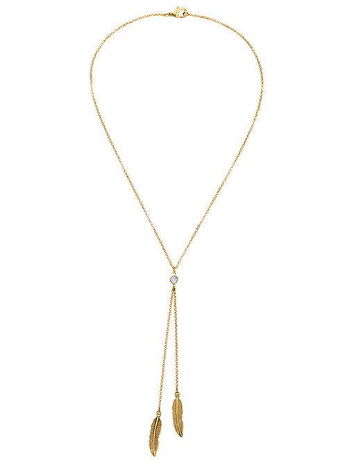 Gold Plated Leaf Bolo Necklace