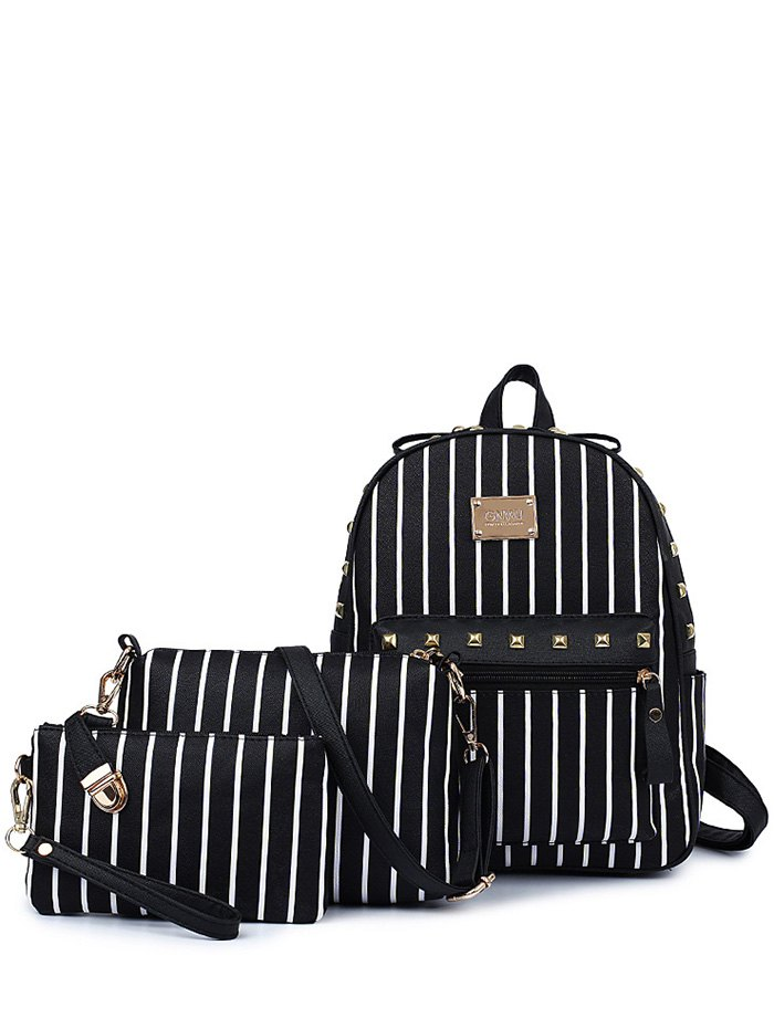 Striped Design Backpack For Women