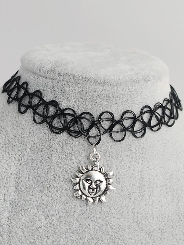 Sun Shape Hollowed Tattoo Choker