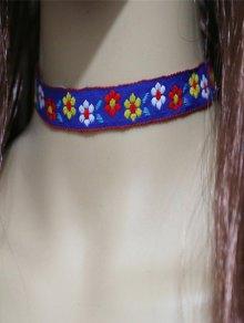 Flowers Embroidery Choker