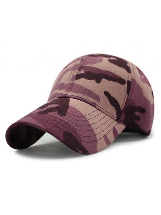 Camouflage Motif extérieur Sunscreen Baseball Hat - Pourpre