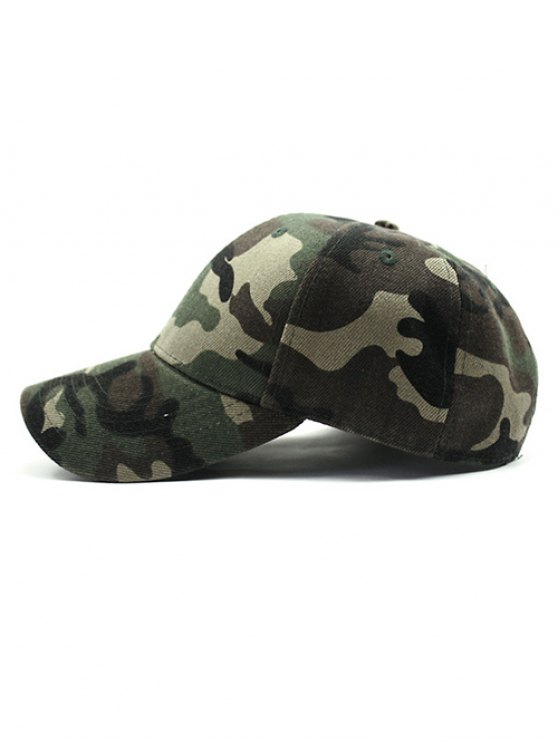 Outdoor Camouflage Pattern Sunscreen Baseball Hat - ARMY GREEN  Mobile