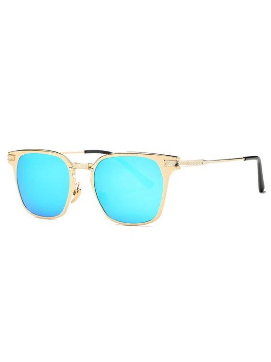Completo llanta gafas de sol espejadas mariposa - Azul Claro
