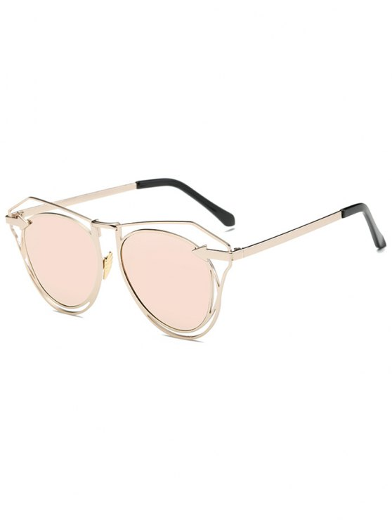outfits Arrow Mirrored Butterfly Sunglasses - SHALLOW PINK