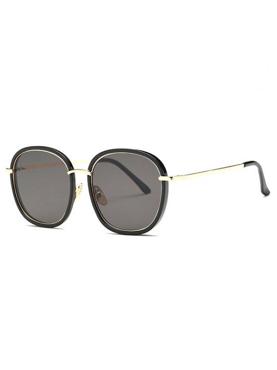 Doble marco gafas de sol de gran tamaño - Negro