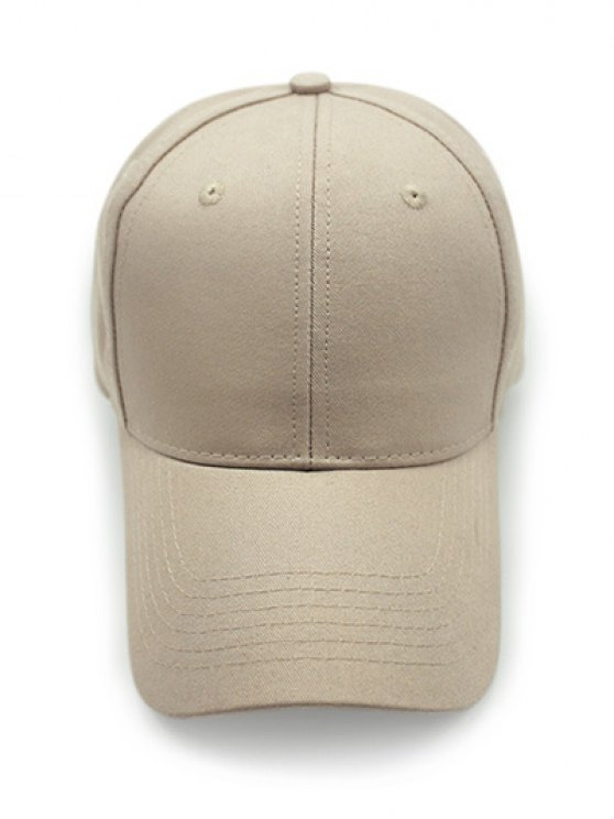 Outdoor Long Brim Adjustable Buckle Baseball Hat - KHAKI  Mobile