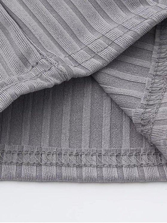 Split Sleeve Sweater - GRAY S Mobile