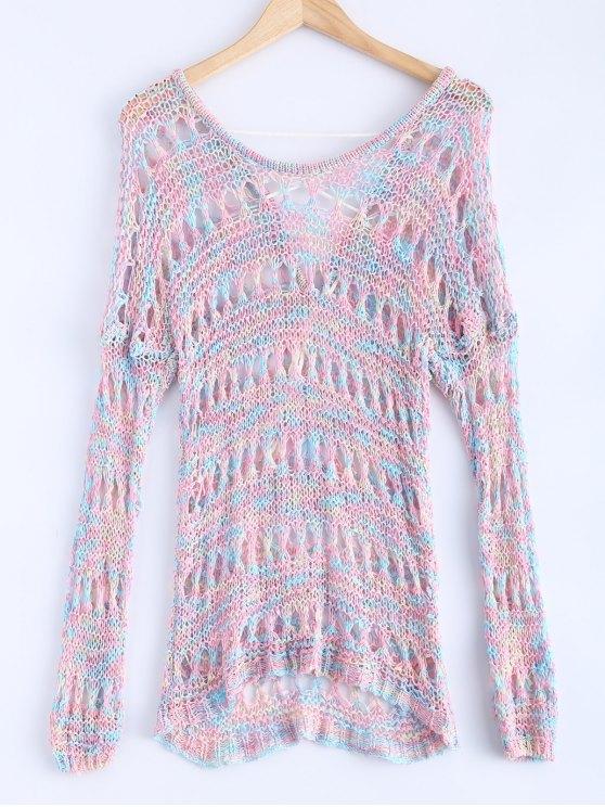 A cielo abierto del suéter de color mixto - Colormix Única Talla