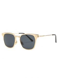 Full-Rim Butterfly Sunglasses - Golden