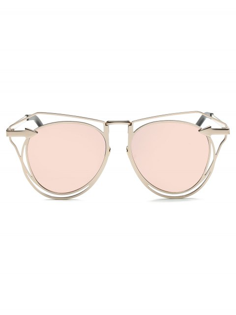 outfits Arrow Mirrored Butterfly Sunglasses - SHALLOW PINK  Mobile
