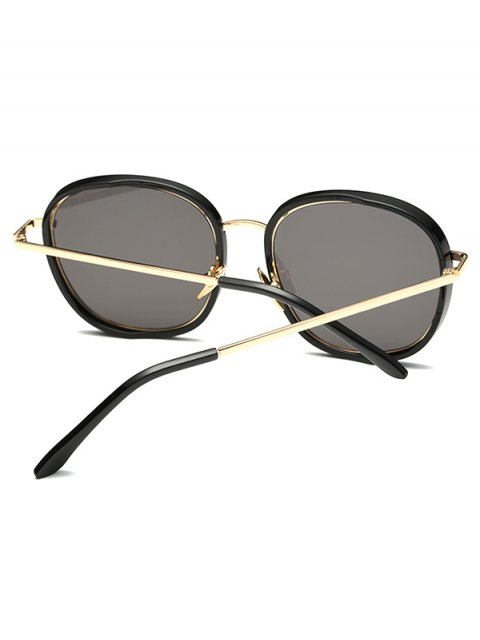 chic Double Frame Oversized Sunglasses - BLACK  Mobile