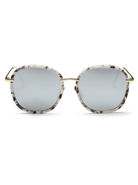 buy Marble Oversized Mirrored Sunglasses - WHITE  Mobile