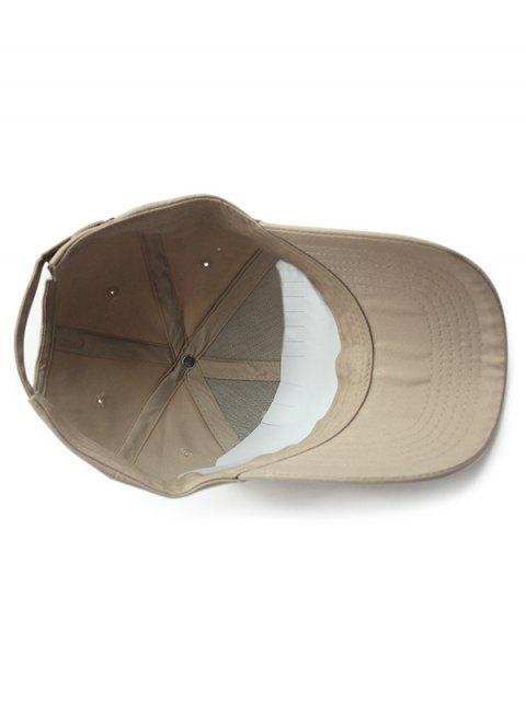 lady Outdoor Long Brim Adjustable Buckle Baseball Hat - KHAKI  Mobile