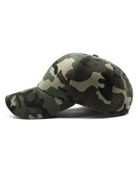 womens Outdoor Camouflage Pattern Sunscreen Baseball Hat - ARMY GREEN  Mobile