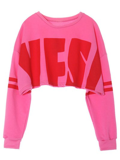 Cropped Sweatshirt - PINK ONE SIZE Mobile
