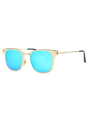 Full-Rim Mirrored Butterfly Sunglasses - Light Blue
