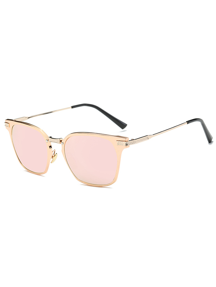 Metallic Full-Rim Mirrored Butterfly Sunglasses