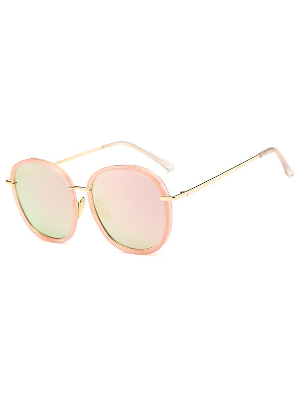 Double Frame Oversized Square Mirrored Sunglasses