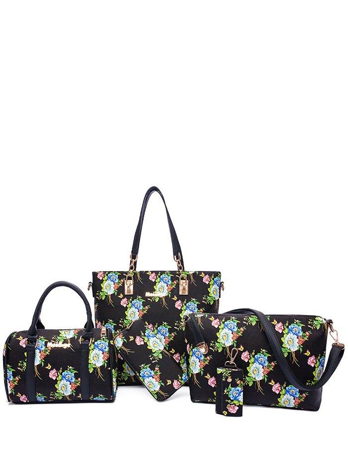 Floral Print Design Shoulder Bag