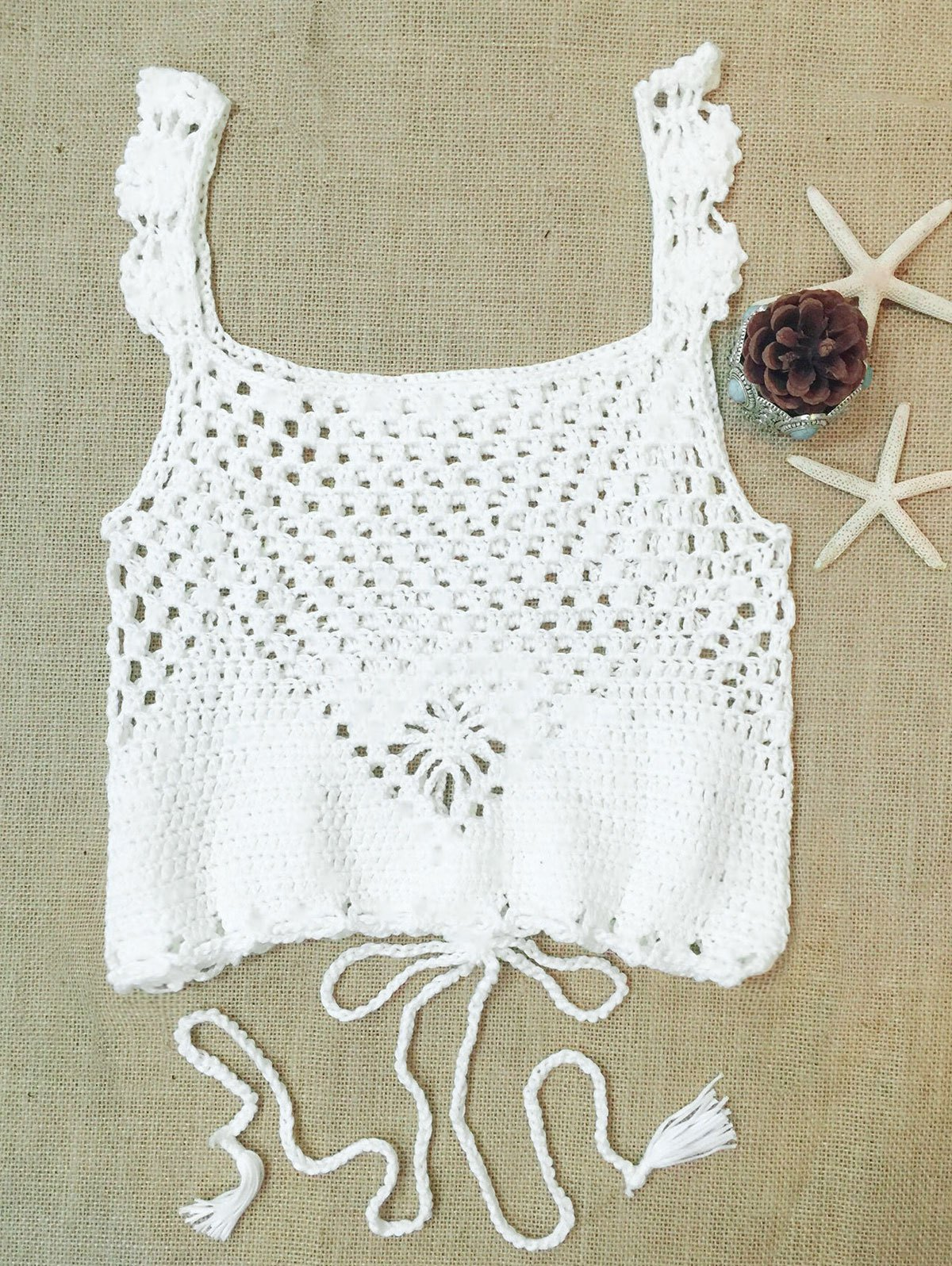 Openwork Multiway Crochet Top