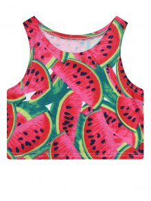 Watermelon Print Crop Top
