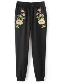 Buy Embroidered Jogging Pants L BLACK
