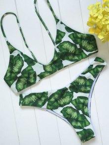 Ensemble Bikini sangle Spaghetti imprimé Tropical