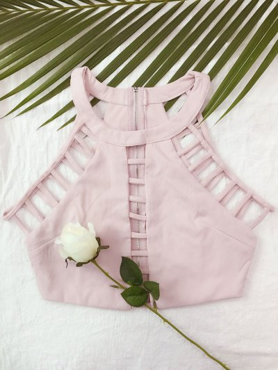 Escalera Del Recorte Camisa Corta - Rosa