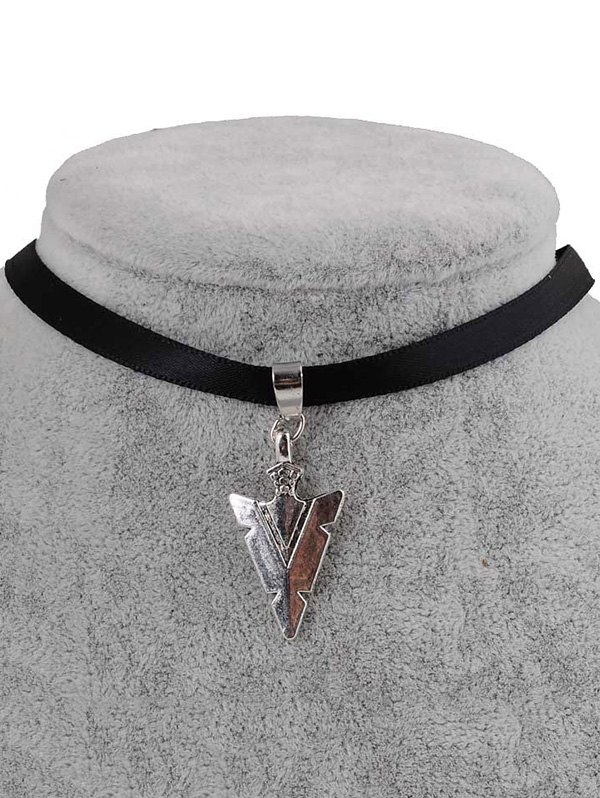 PU Leather Arrow Pendant Choker