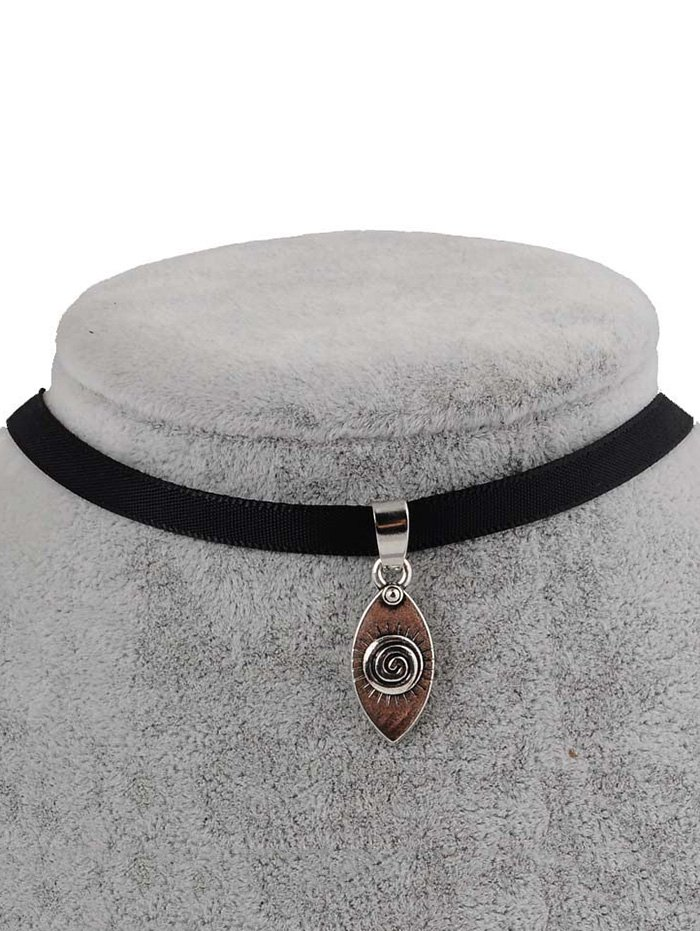 PU Leather Devil Eye Pendant Choker