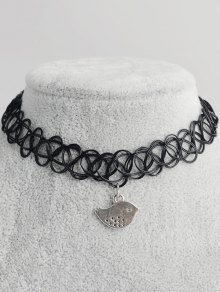 Bird Hollow Out Tattoo Choker