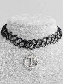 Anchor Hollow Out Tattoo Choker