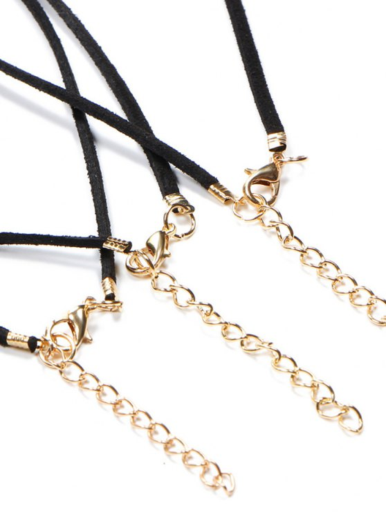 Velvet Sun Moon Star Chokers - BLACK  Mobile