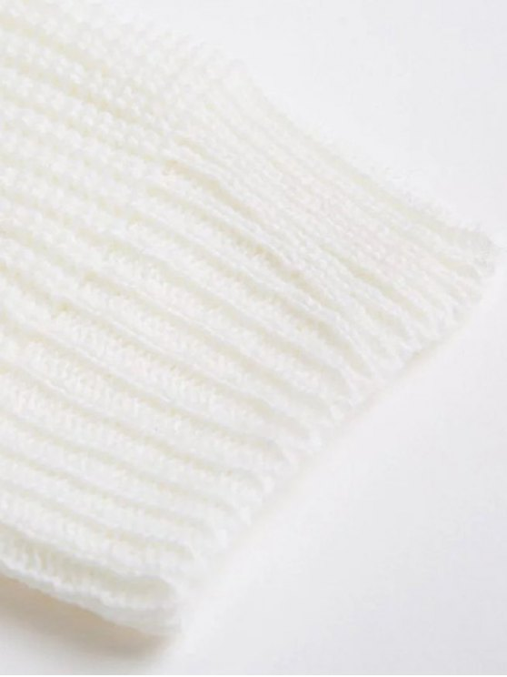 Oversized Drop Shoulder Choker Sweater - JACINTH ONE SIZE Mobile