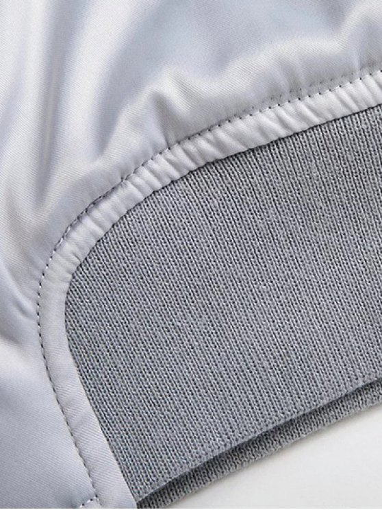 Zip Pocket Pilot Jacket - SILVER S Mobile