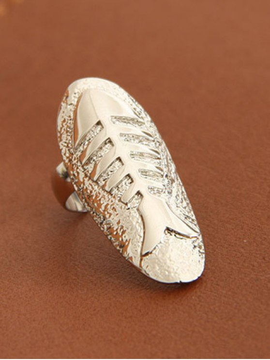 Embossed Fishbone Nail Rings - SILVER AND GOLDEN  Mobile