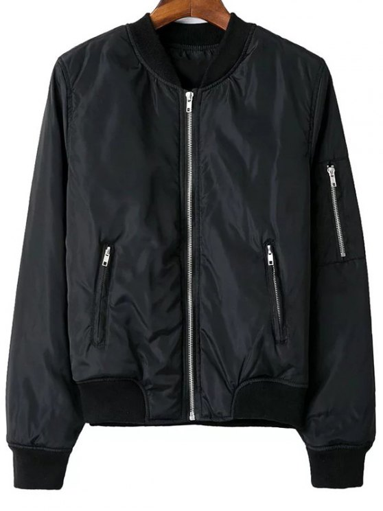 Zip Pocket Sport Jacket - BLACK L Mobile
